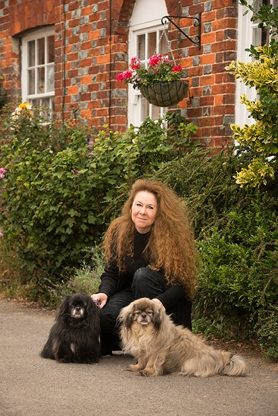 Christina Courtenay and her dogs