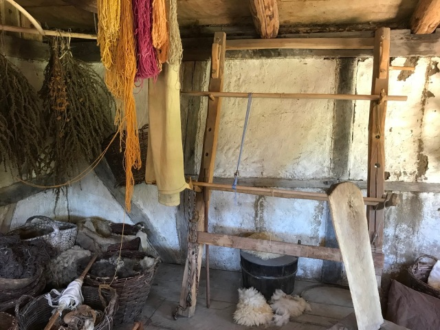 Viking loom and yarn